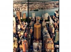 Paraván - Bird's Eye View of New York [Room Dividers]